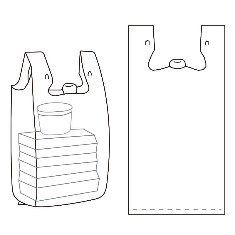 Easy Open T-shir T Bag