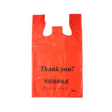 LDPE Red 2.25mil T-shirt Bag